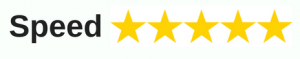 Five stars for speed