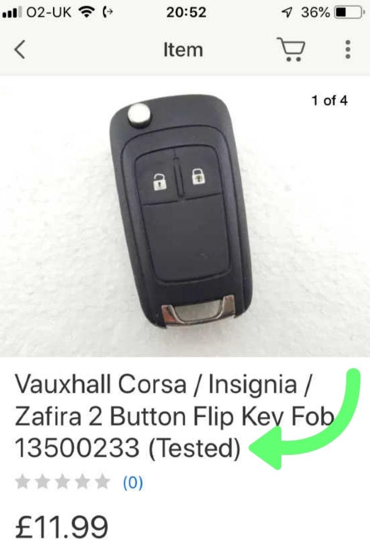 Vauxhall Corsa 2007-2015 Car Keys Price and Problems