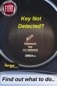 Fiat 500x key not detected